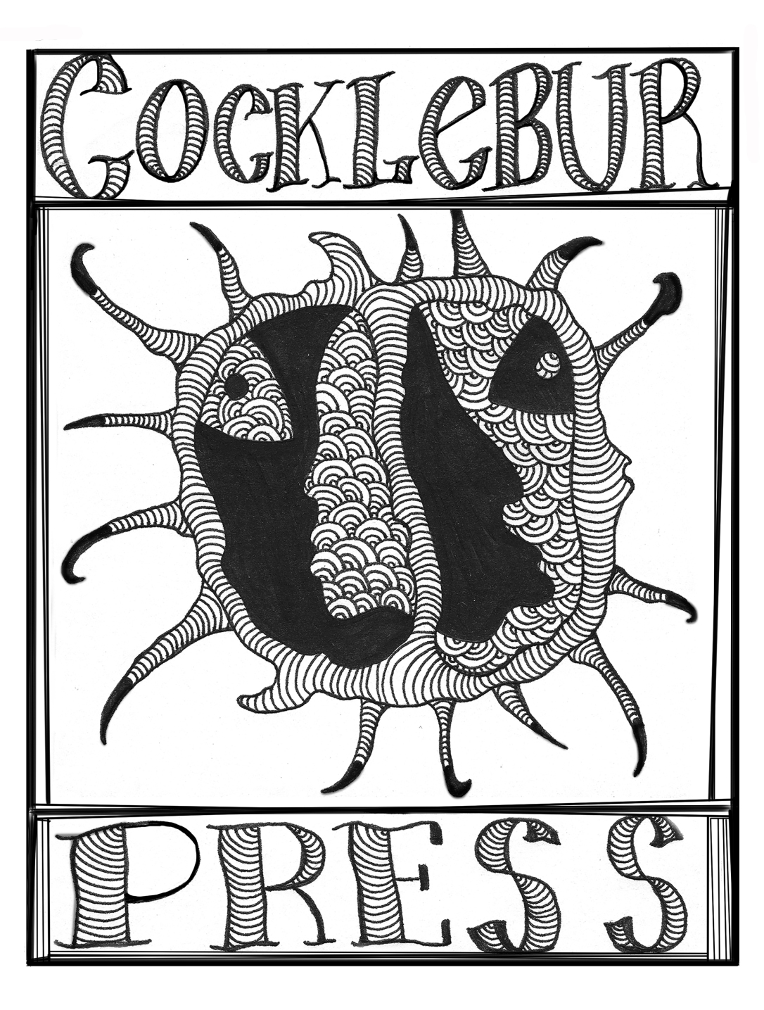 Cocklebur Press logo by A.S. Coomer, edited by Trent Clayton